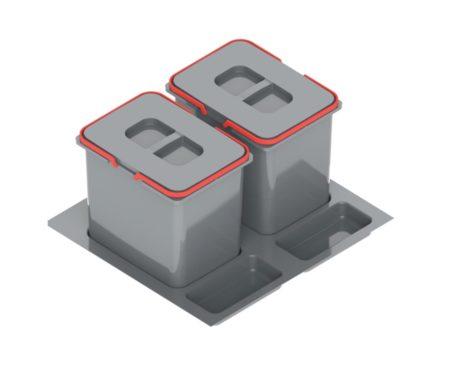 Pojemnik na odpady 2x15 L