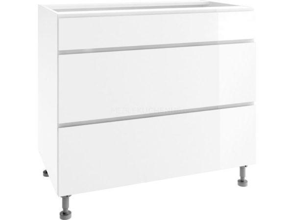 Szafka Vegas PSZ 100-3 White dolna z szufladami