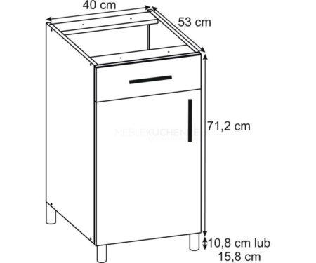 Szafka Bella PSZ 40-1 Graphite dolna z szufladą