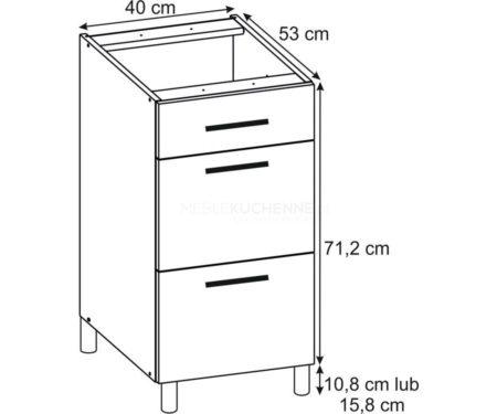 Szafka Bella PSZ 40-3 Graphite dolna z szufladami