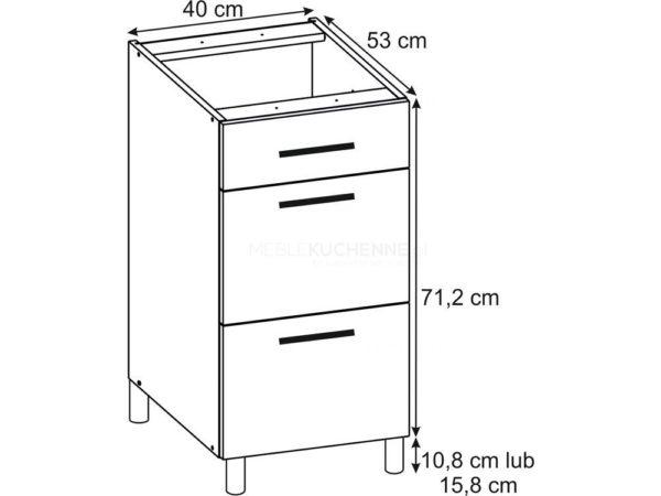 Szafka Bella PSZ 40-3 Nube dolna z szufladami