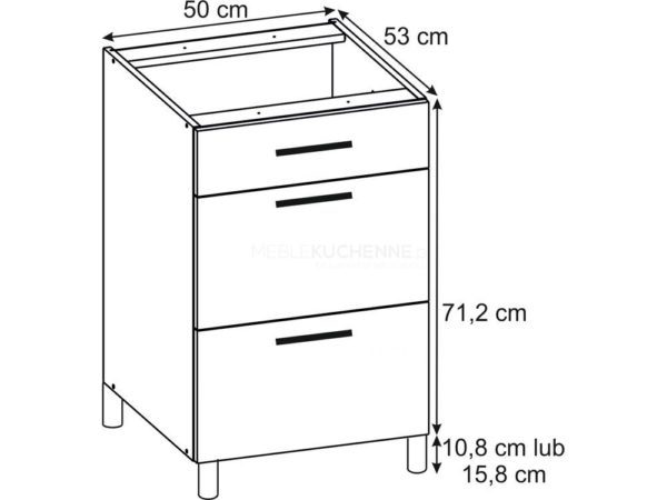 Szafka Bella PSZ 50-3 Nube dolna z szufladami