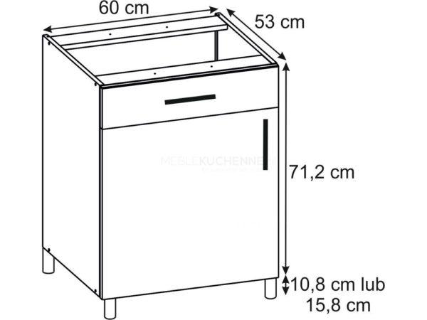 Szafka Bella PSZ 60-1 Bianco dolna z szufladą