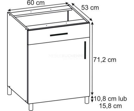 Szafka Bella PSZ 60-1 Graphite dolna z szufladą