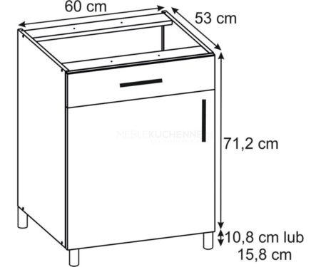 Szafka Bella PSZ 60-1 Nube dolna z szufladą
