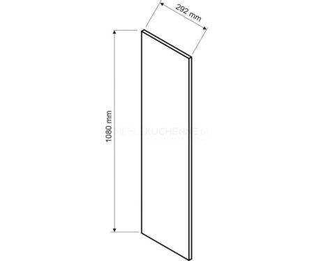 Denis panel boczny 108 górny – biała satyna