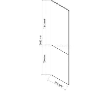 Denis panel boczny dolny 203,3 – biała satyna