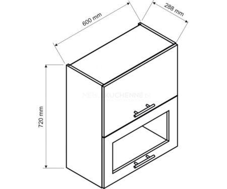 Szafka Denis W60 GRF-2 SD witrynowa biała satyna