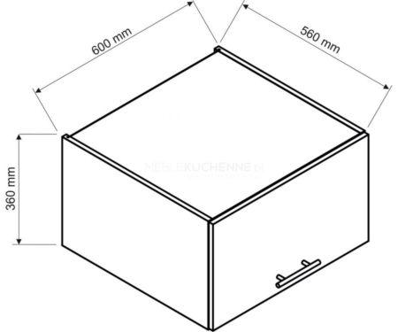 Szafka Denis W60 OK GR gł. 56 górna biała satyna