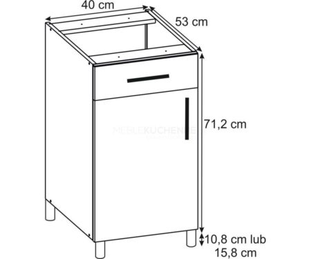 Szafka Ruka PSZ 40-1 Cream dolna z szufladą