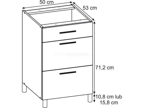 Szafka Ruka PSZ 50-3 Cream dolna z szufladami