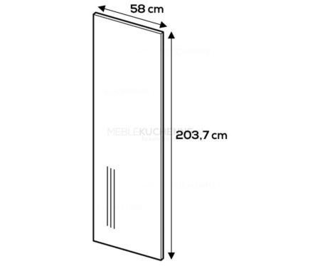 Panel boczny Campari 203,7/58 szary mat akryl