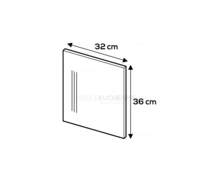Panel boczny Campari 36/32 szary mat akryl