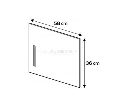 Panel boczny Campari 36/58 szary mat akryl