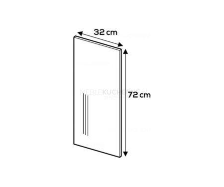 Panel boczny Campari 72/32 szary mat akryl