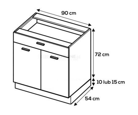Szafka dolna Campari DS9/1 Starmotion szary połysk