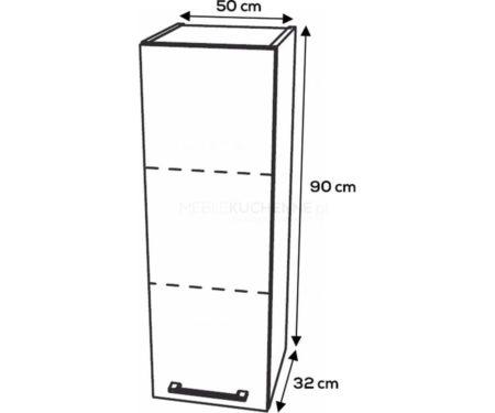 Szafka górna KamMono F4 W50-1-90 biały mat