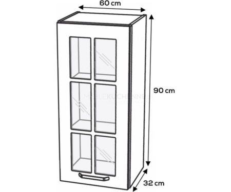 Szafka górna KamMono F4 WW60-1-90 biały mat