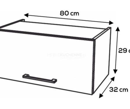 Szafka górna KamMono F8 WO80-29 szary mat