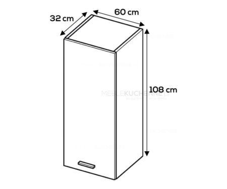 Szafka wisząca Campari W6/1080 szary mat akryl