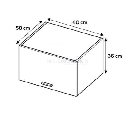 Szafka wisząca Campari WOG4-36-58 szary mat akryl