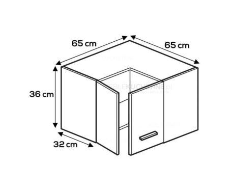 Kuchnia Blanka narożna WNPP 65/65/36 drewnopodobna