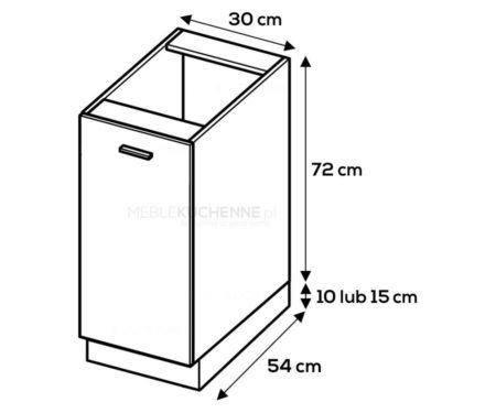 Kuchnia Blanka szafka D3 drewnopodobna