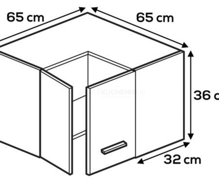 Kuchnia Lamja szafka WNPP65-65-36 górna narożna