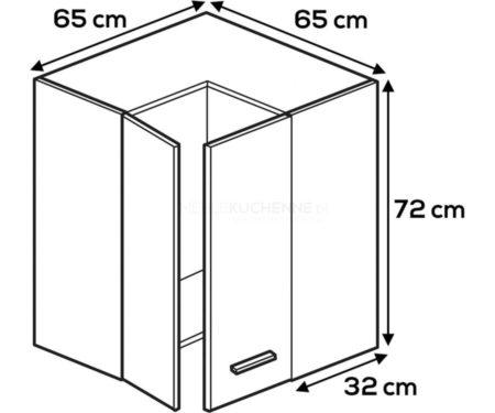 Kuchnia Lamja szafka WNPP65-65-72 górna narożna
