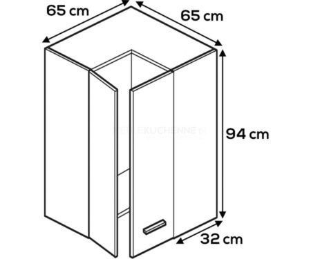 Kuchnia Lamja szafka WNPP65-65-94 górna narożna
