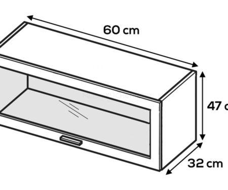 Kuchnia Lamja szafka WWO6-47 witrynowa