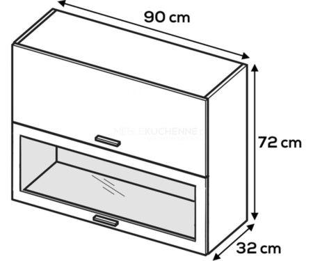 Kuchnia Lamja szafka WWPO9-72 witrynowa
