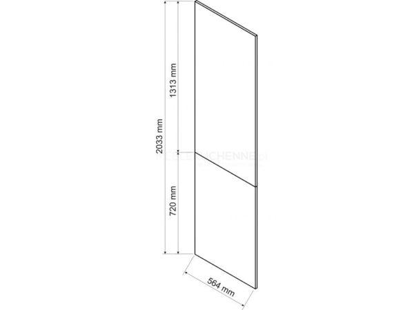 Bono panel boczny 203,3 – dąb burlington