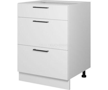 Szafka Bono D60 S-3 z szufladami biała alaska